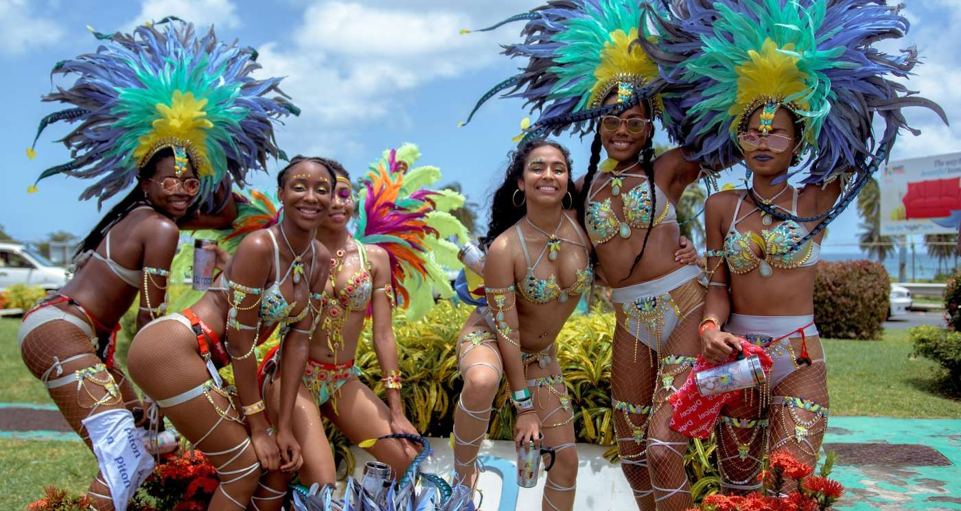 Dancers at Saint Lucia Carnival